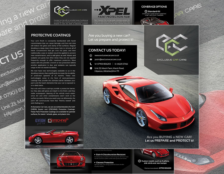 Exclusive Car Care | Tri-fold Brochure