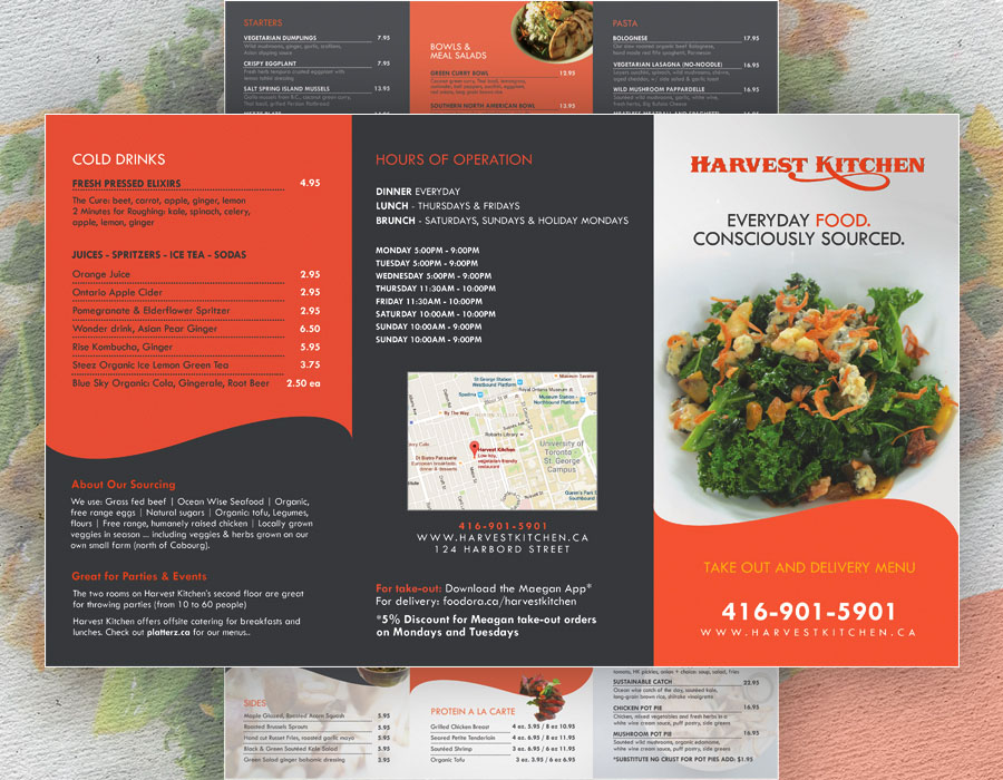 Harvest Kitchen | Tri-fold Brochure Design