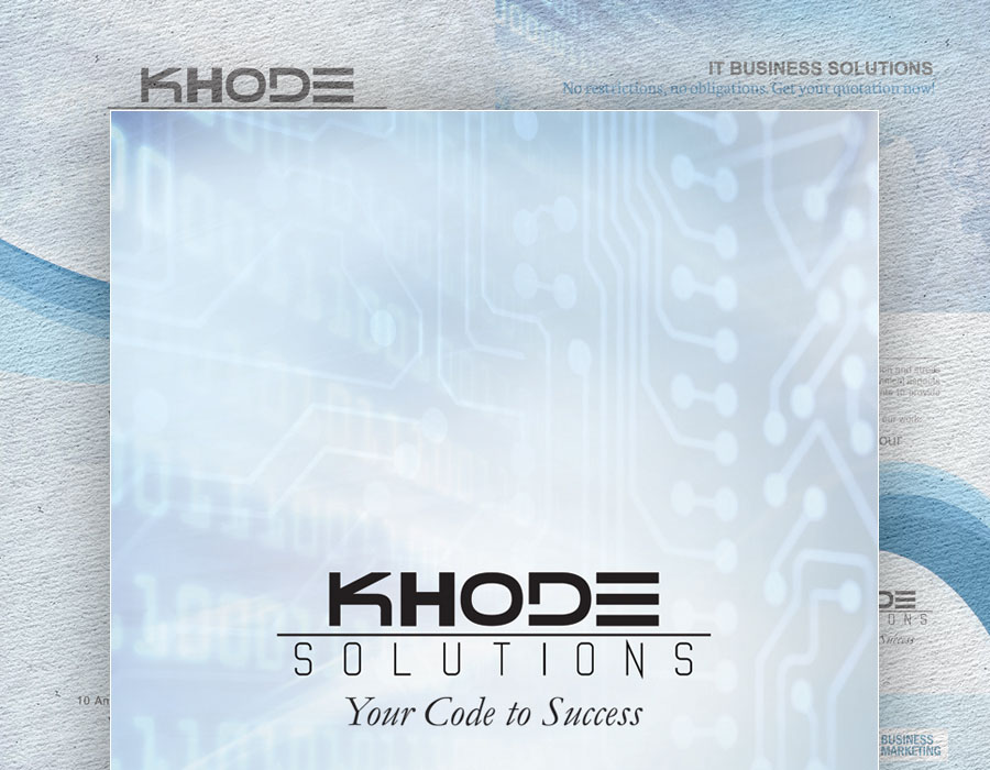 Khode Solutions | Four-sided Brochure Design