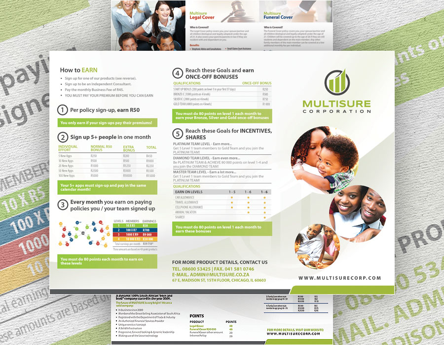 Multisure Corporation | Tri-fold Brochure Design