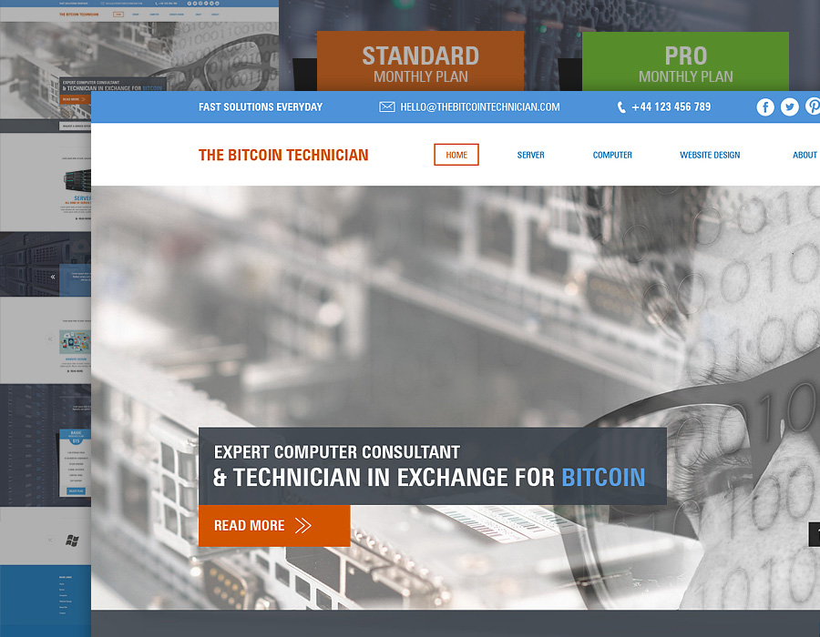 Bitcoin Technician | Website Design