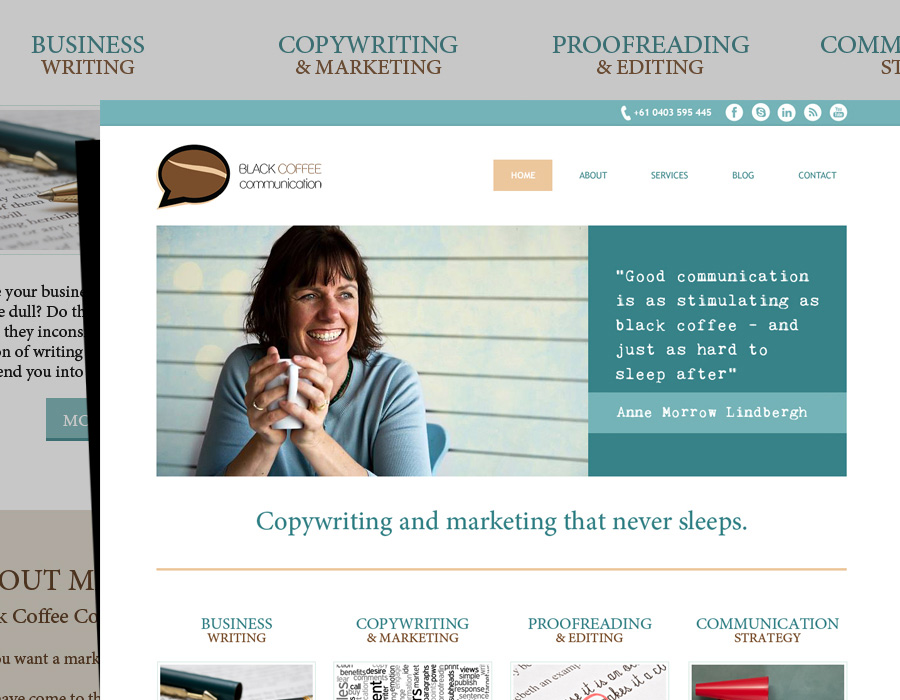 Black Coffee Communication | Website Design