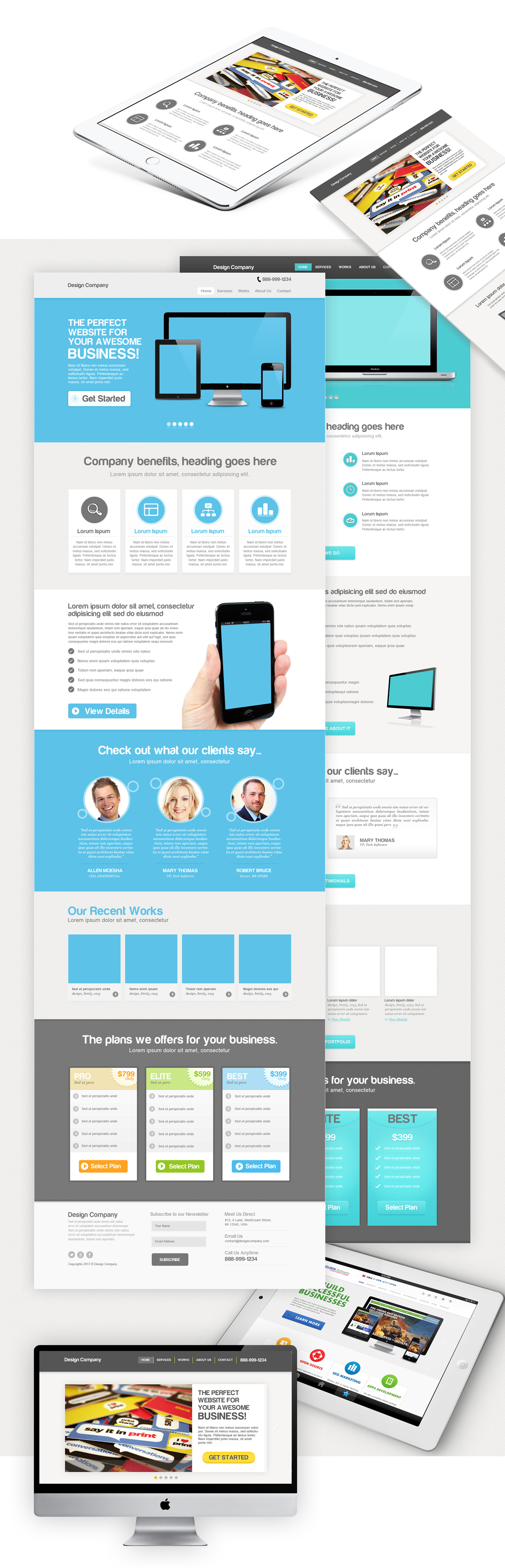Website/Mobile Responsive PSD Designs