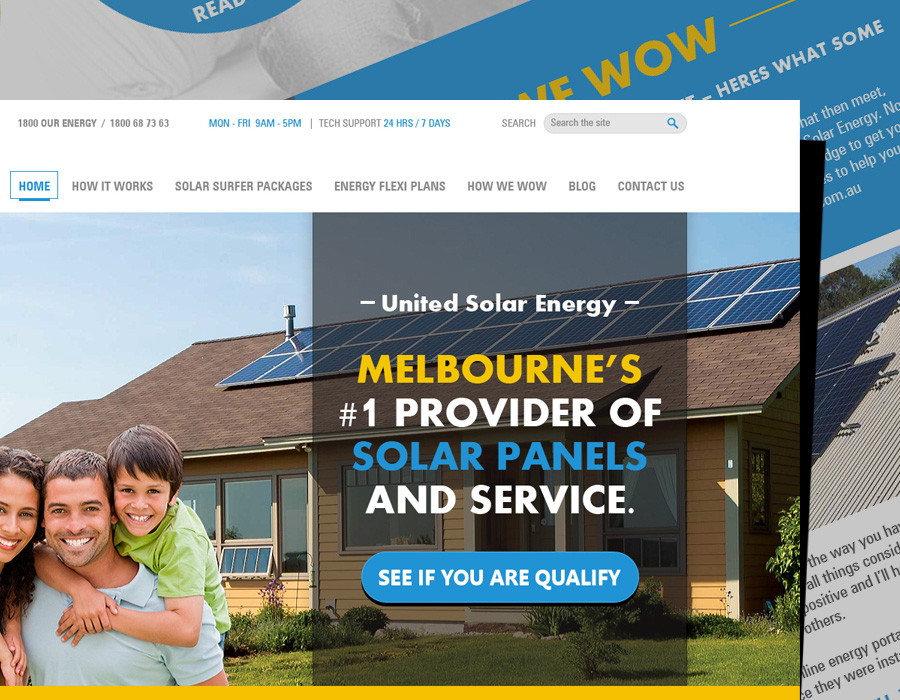 United Solor Energy | Website Design